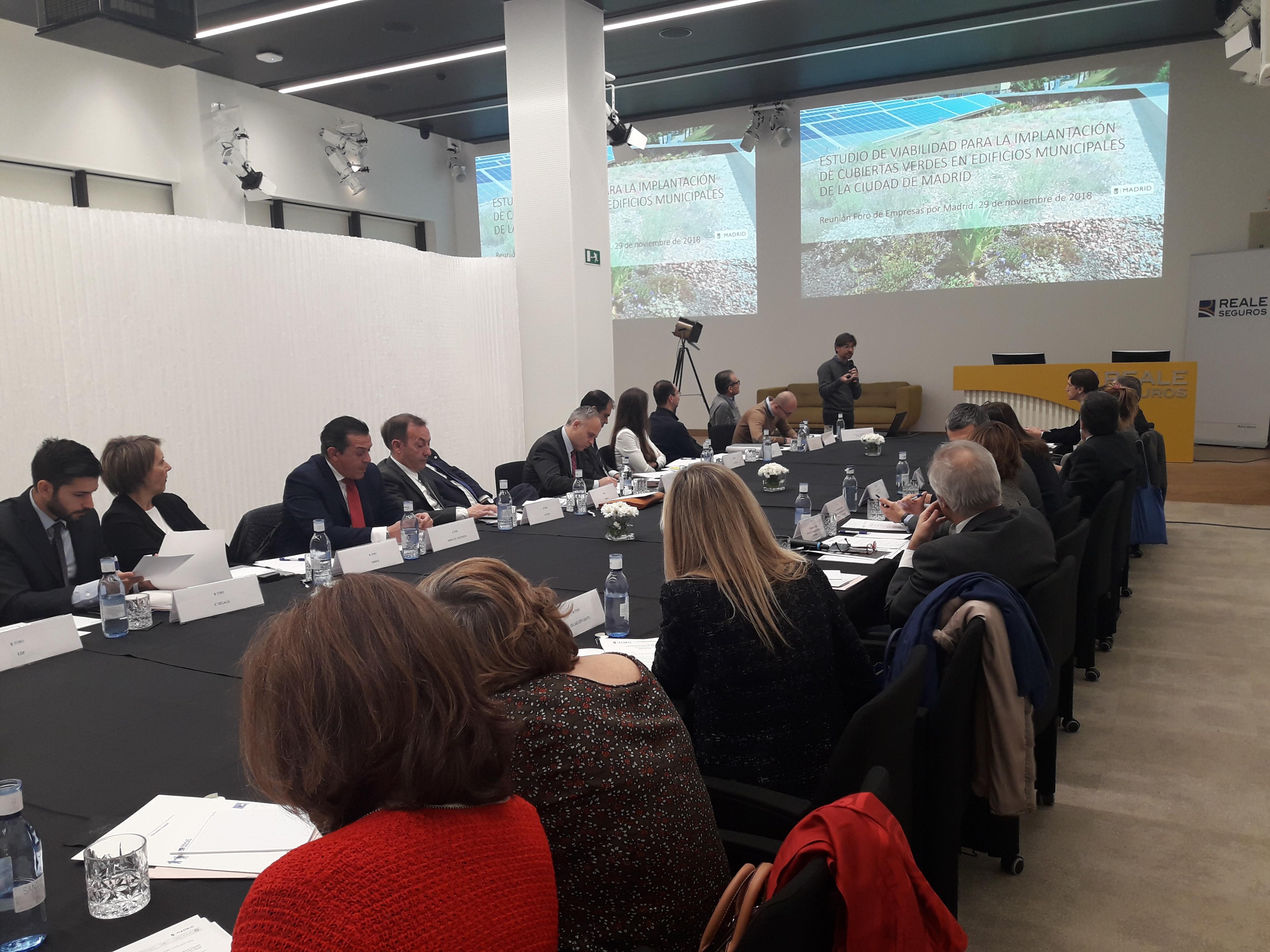 Reunión del Foro de Empresas por Madrid del 29 de noviembre de 2018