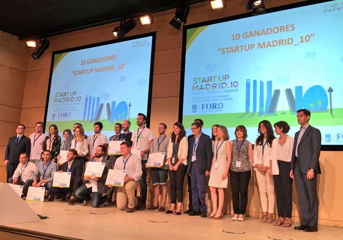 Ganadores del concuros SartUp_Madrid del Foro de Empresas y el Ayuntamiento de Madrid