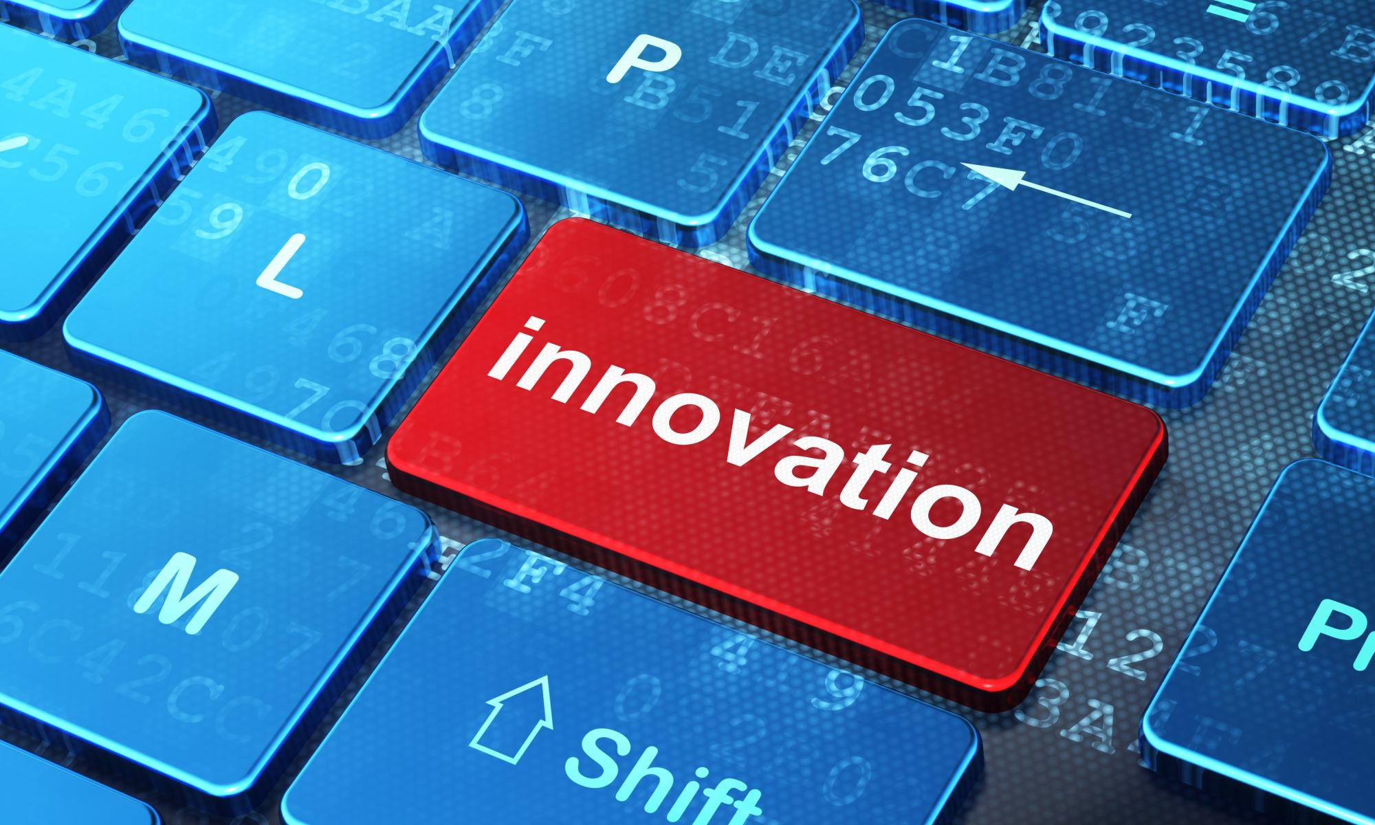 Teclado de ordanedor con la palabra innovación destacada