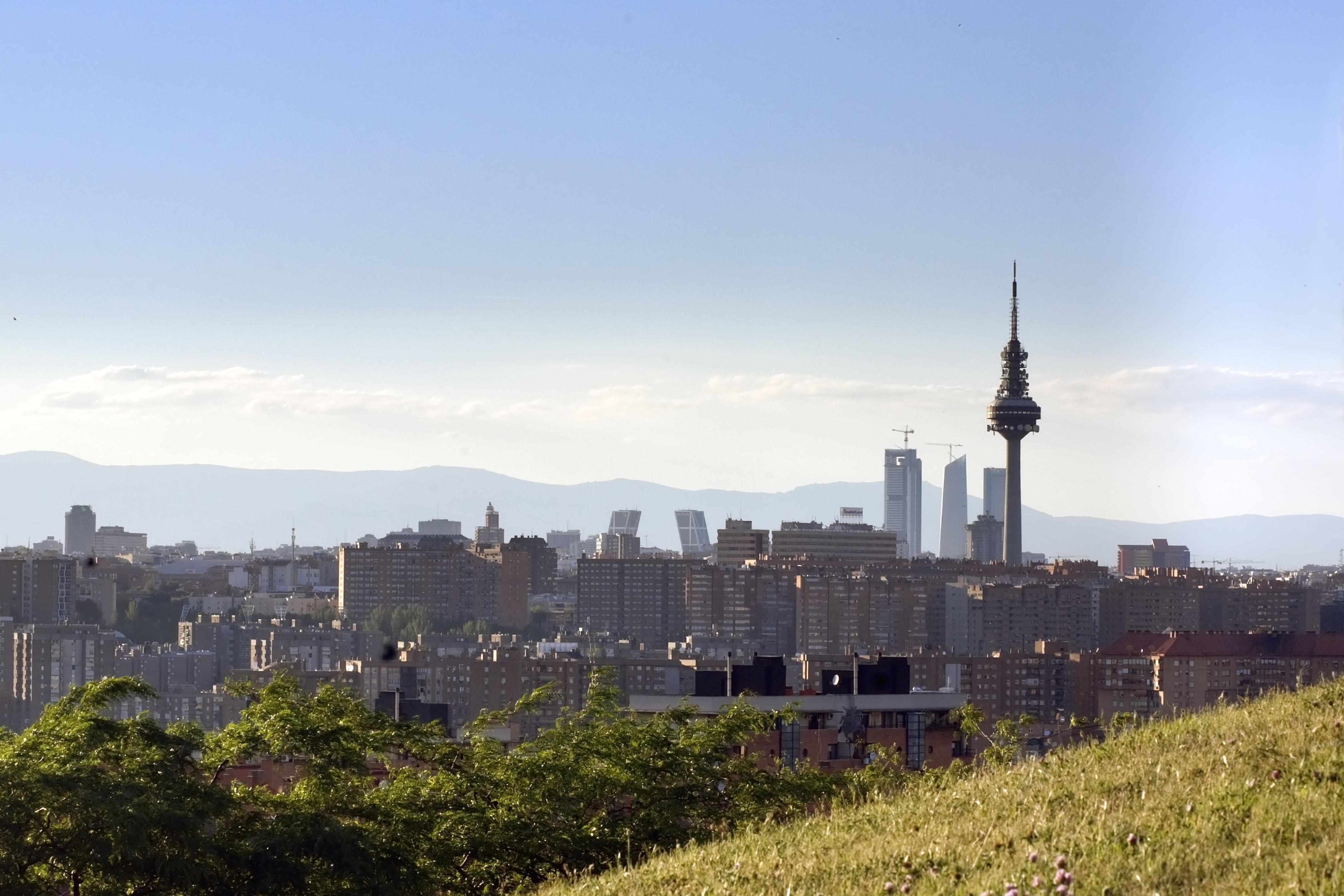 Vista área de la ciudad de Madrid