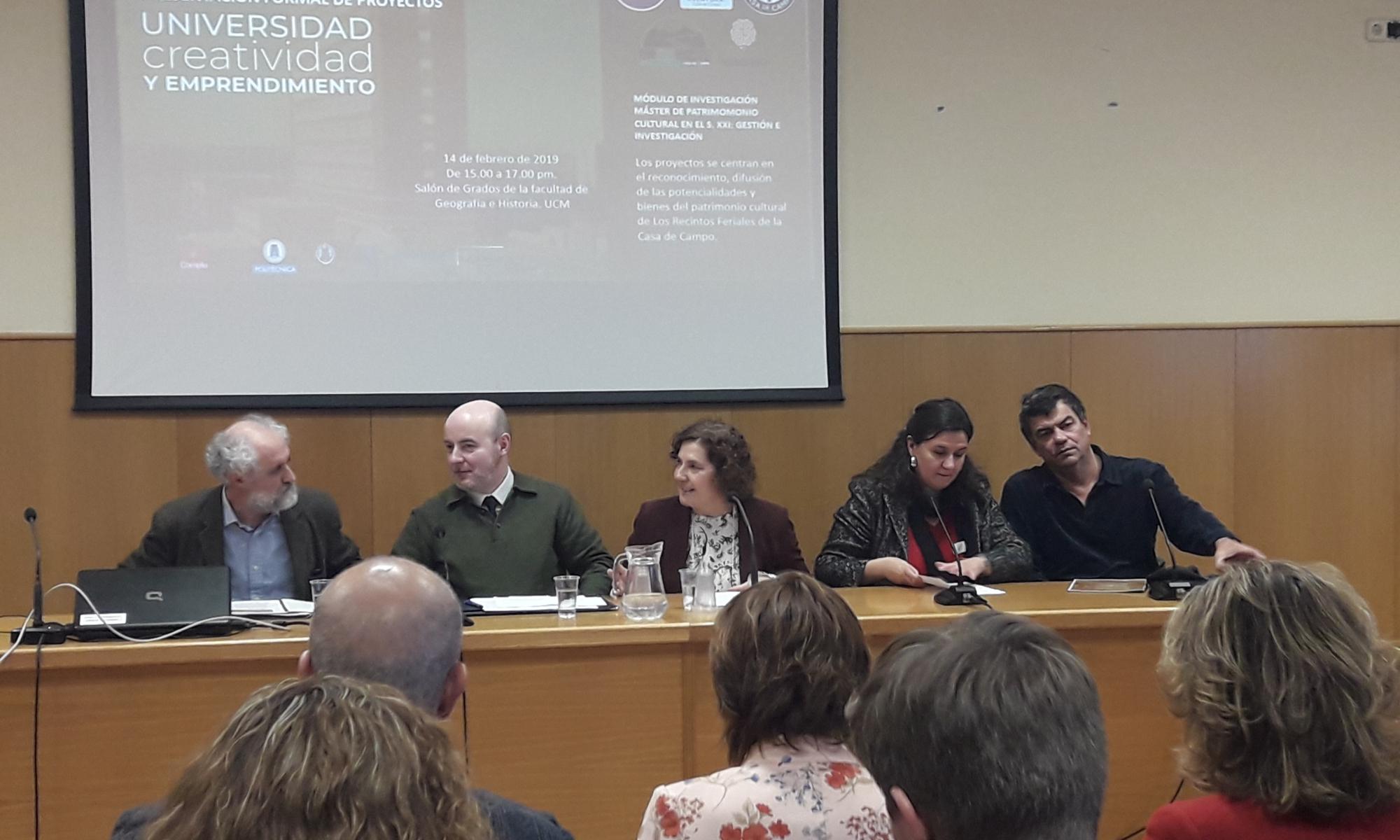 Asistentes al acto de clausura del Master en Patrimonio Cultural de la UCM y UPM apoyado por el Foro de Empresas por Madrid