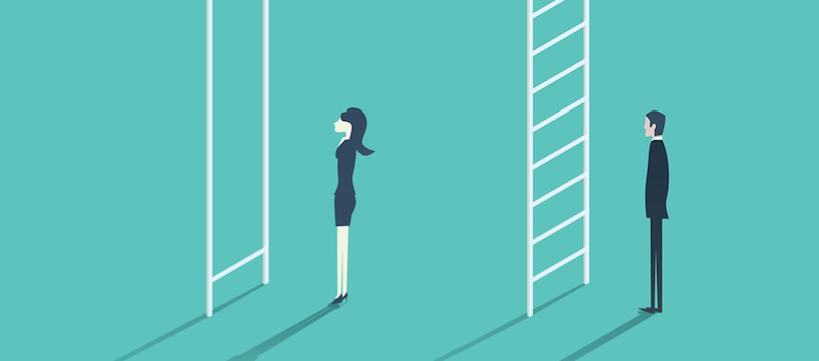 ilustración alusiva a la desigualdad de género