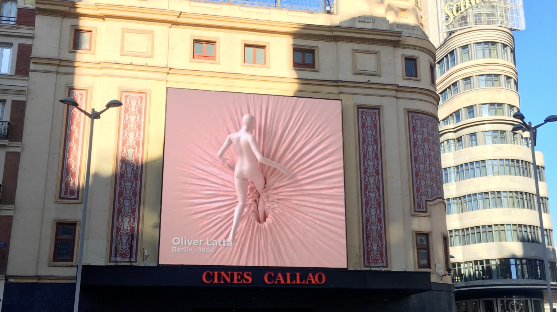 Obra visual del proyecto Callao City Arts en la Plaza de Callao