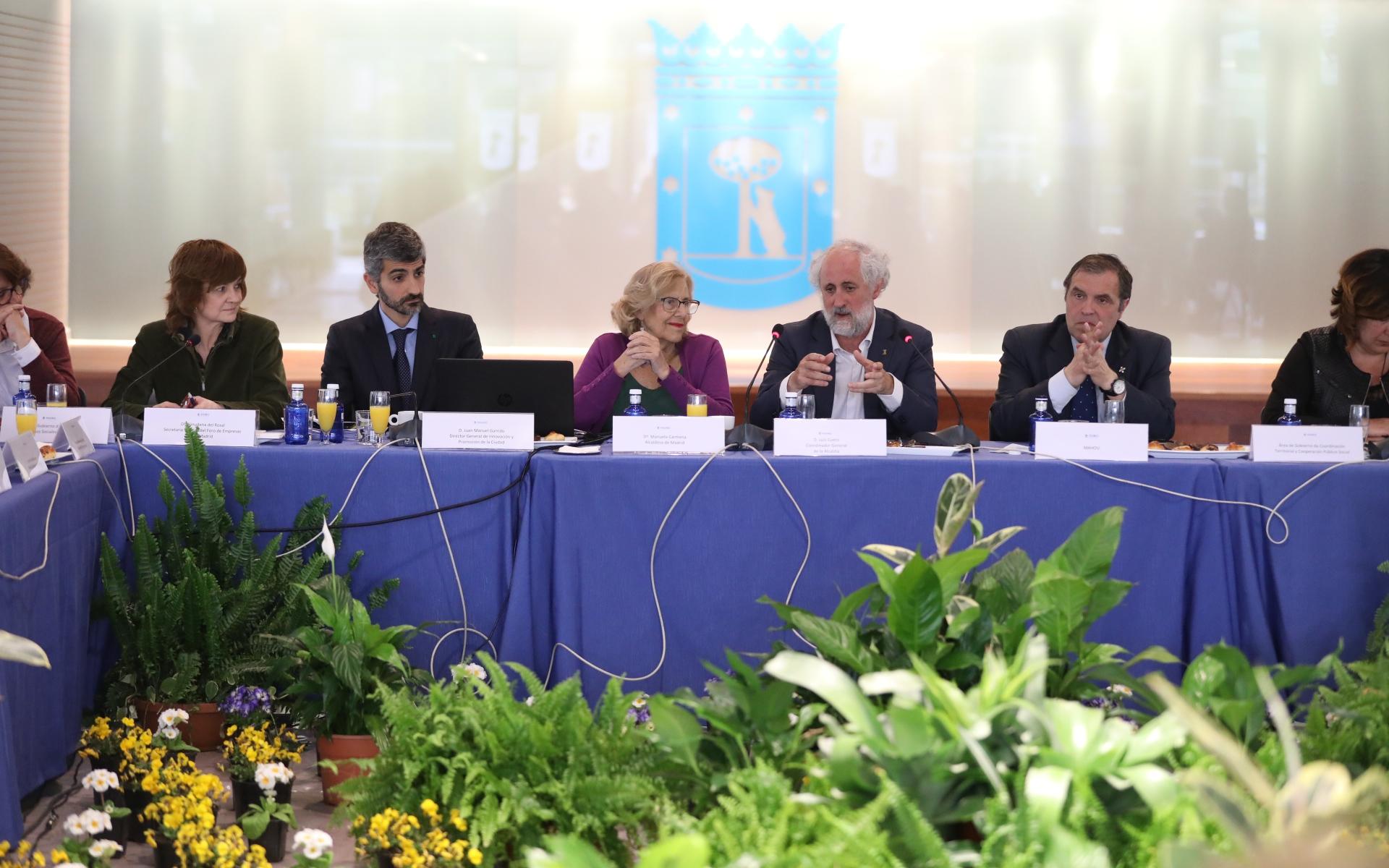 Reunión anual del Foro en 2019 con al alcaldesa Manuela Carmena