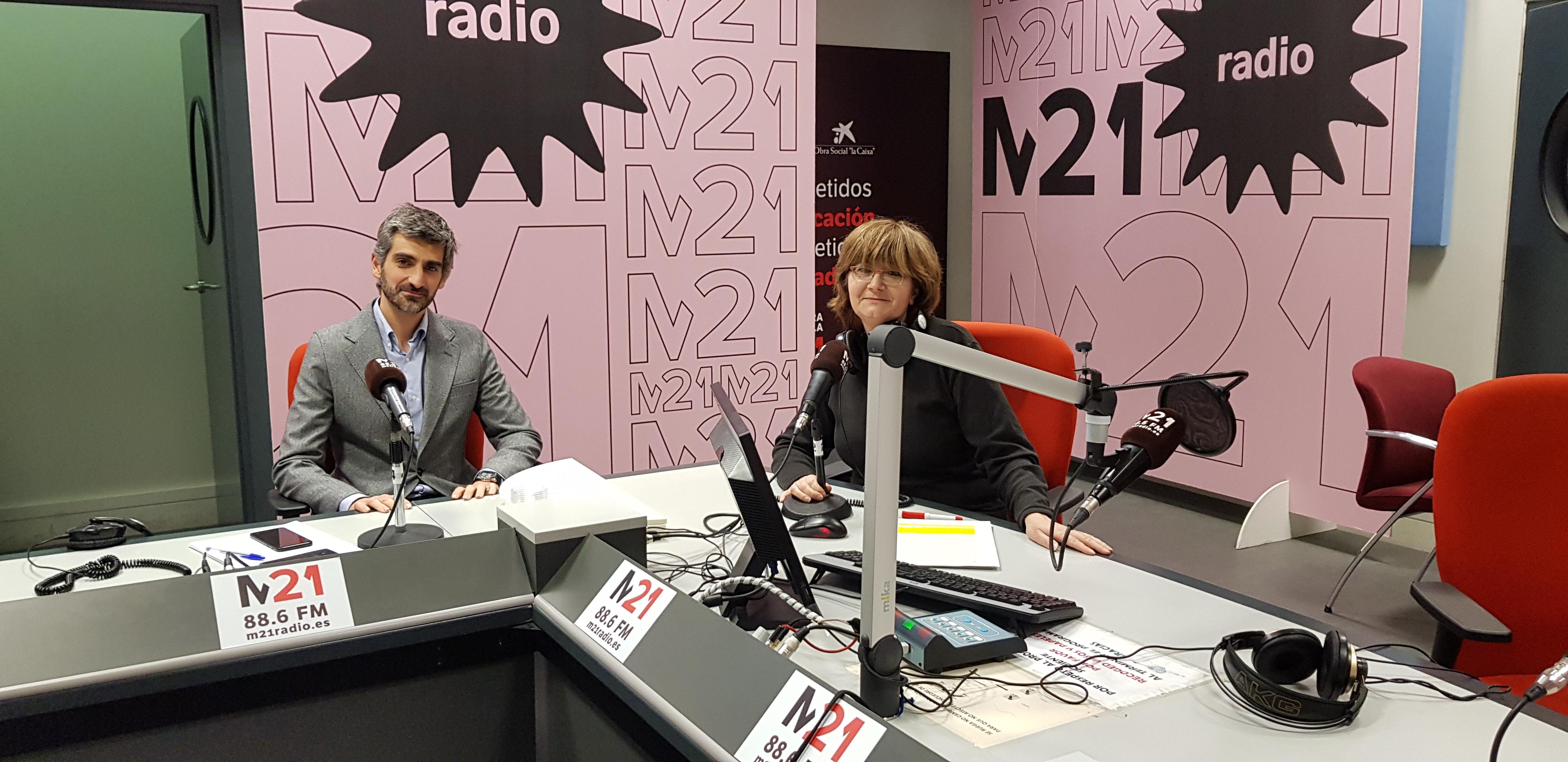 Juan Manuel Garrido, Director de Innovación del Ayuntamiento de Madrid,, junto a María Santos, directora del programa 'Compromiso Madrid