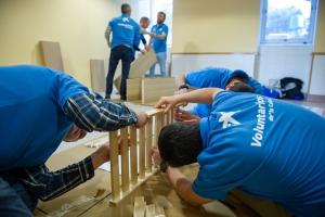 acción de voluntariado de la obra social de CaixaBank