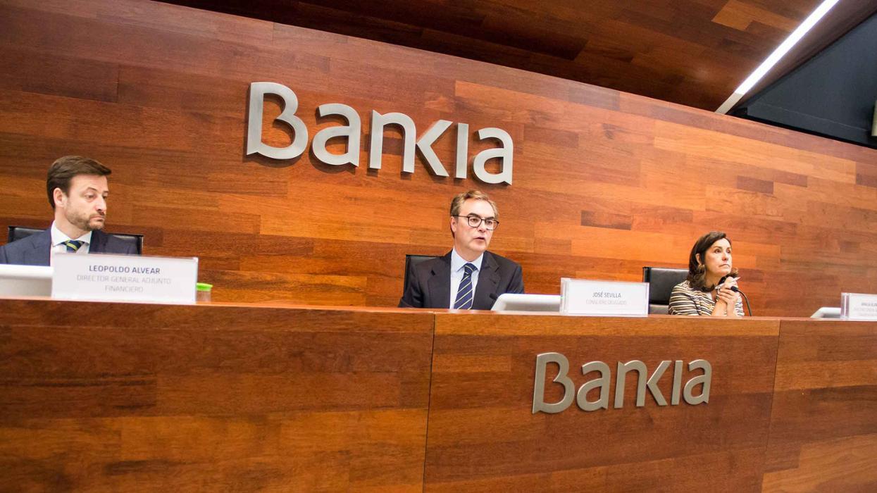 Presentación de resultados de Bankia y de acciones del programa social