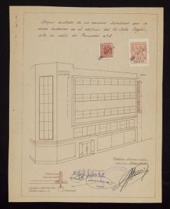 plano antiguo de El Corte INglés
